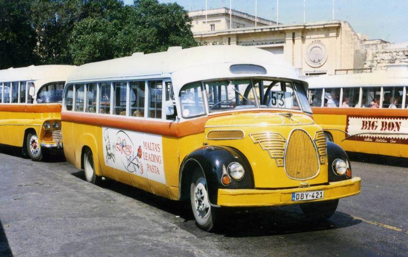 1951 Magirus 03500 bus op Malta