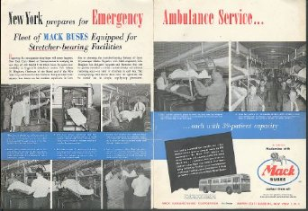 1952 Ambulance Service Mack Buses