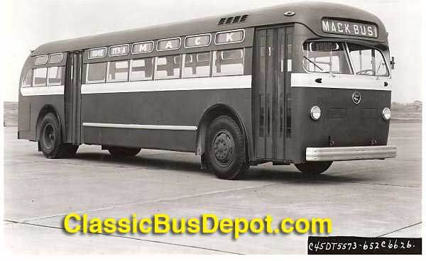 1952 Mack C-45DT city transit