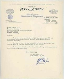 1952-Mann-Egerton-Coach-Bus-ORIGINAL-Automobile-Factory