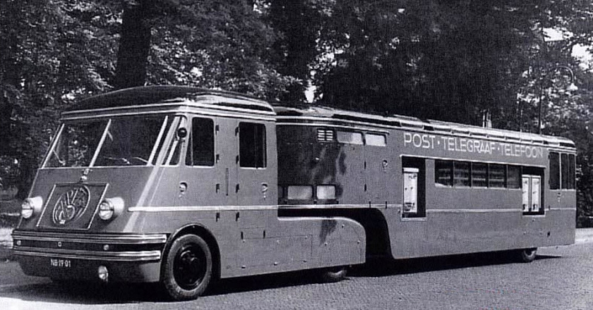 1952 Mobiel PTT-kantoor, DAF met carrosserie van Medema
