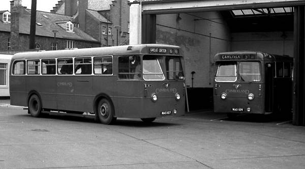 1953 Cumberland 155 and 158, MAO107 and MAO109, 1953 Leyland B44F bodied Leyland PSU1-17 Royal Tigers