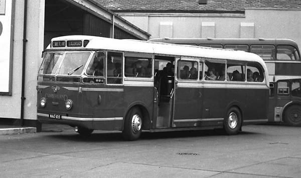 1953 Cumberland 175, MAO105, was the last of three Leyland C41C bodied Leyland PSU1-15 Royal Tigers
