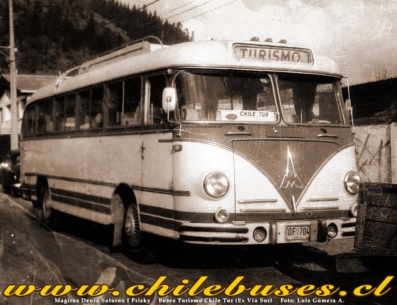 1953 Magirus Deutz Saturno I Prisky Buses Turismo Chile Tur Ex Via Sur