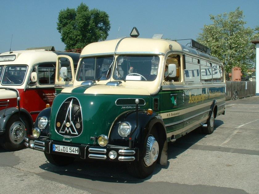 1953 Magirus O 3500. This delightful Klöckner Humbolt Deutz Magirus O3500