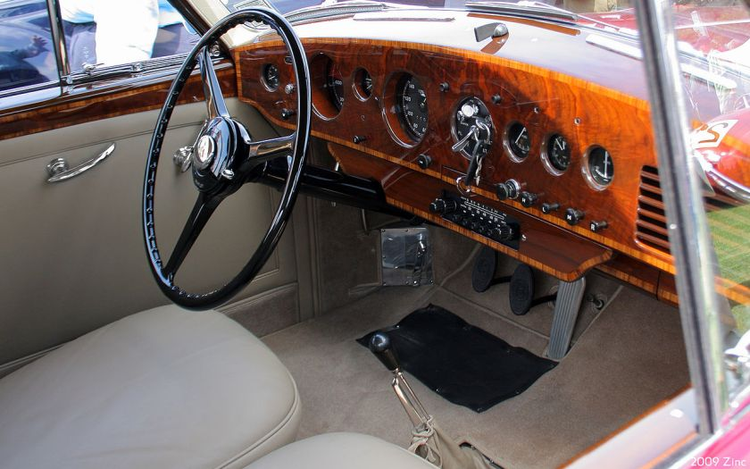 1954 Bentley R-Type Continental HJ Mulliner Sports Saloon interior