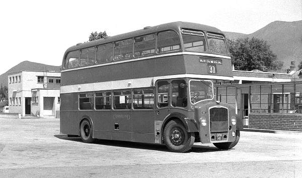 1954 Cumberland 406, ORM141, an early Bristol LD6G with ECW H33-27RD body