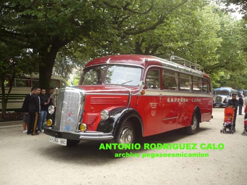 1954 Mercedes Benz O-3500 Motor OM-312 Año 1954 Empresa Cuiña