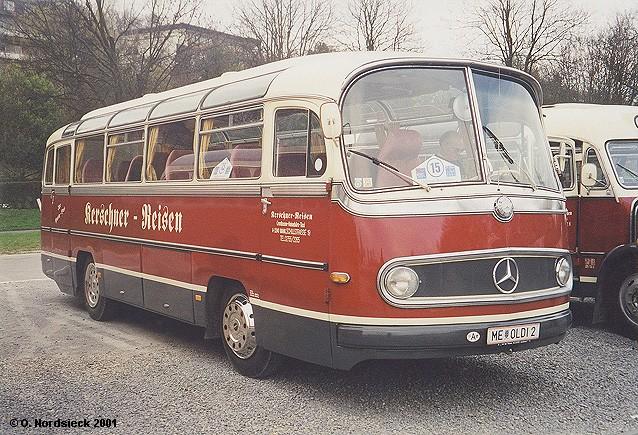 1954 Mercedes-O321H-Reisebus-Kerschner-weiss-weinrot