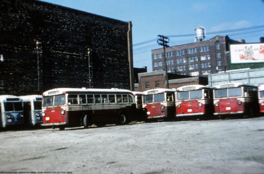 1954 shot, TTC Mack Buses