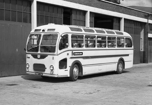 1956 Cumberland 282, RAO736, a Bristol LS6G with ECW C39F body