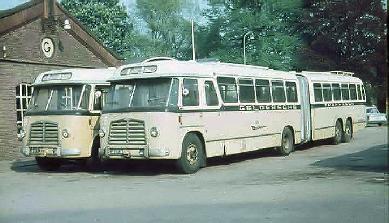 1956 MAN Kässbohrer gelede bus 530 SOC1 D 1246M3 135pk Verheul carr GTW 595+596
