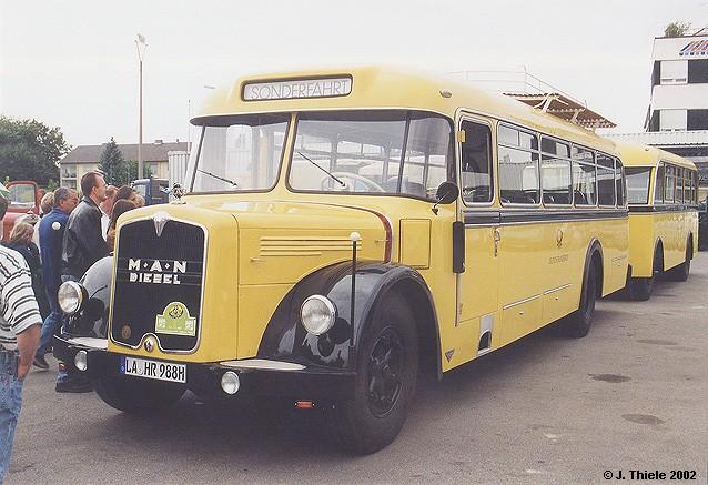 1956 MAN MKN 630 Postbus m. Personenanhänger
