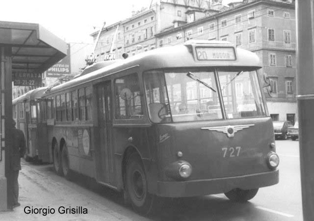 1956 Trolleybus Macchi. 727