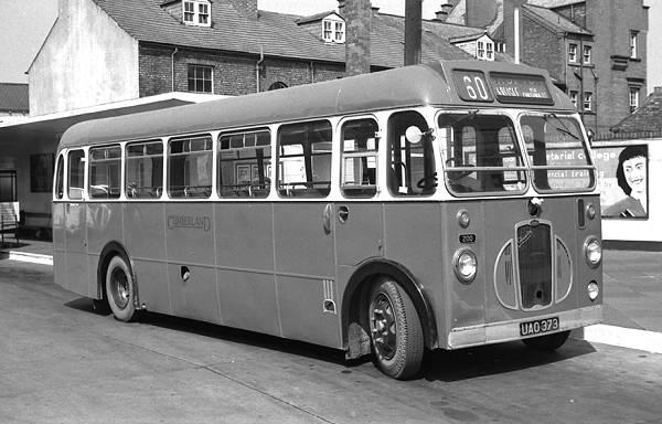 1957 Cumberland 200, UAO373, was a Bristol SC4LK with an E.C.W. B35F body