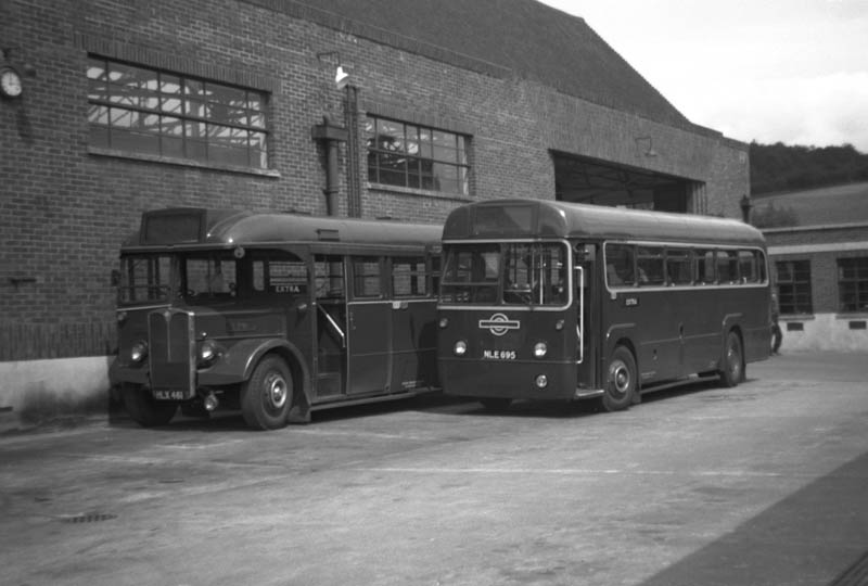 1957 Mann Egerton bodied AEC Regal III T791 (HLX 461) and RF695
