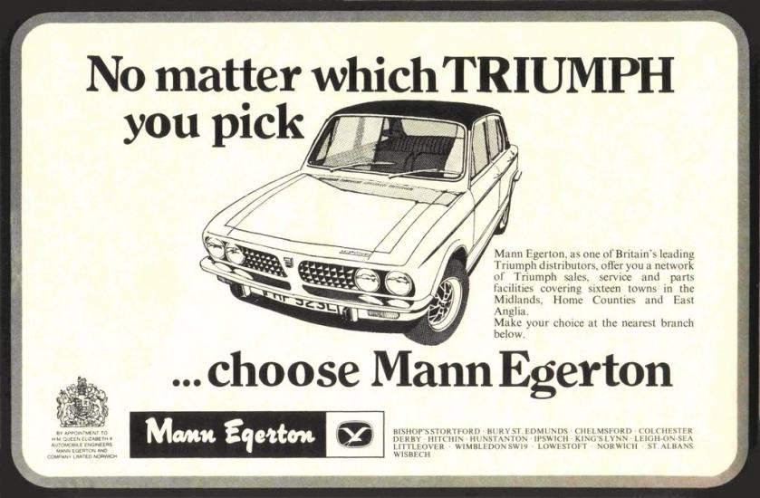 1958 MANN EGERTON FOR TRIUMPH