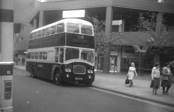 1960 Birch Brothers MCW Orion bodied PD2 at Luton in 1964 CONFIDENCE1