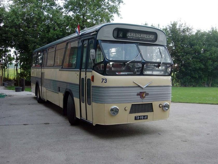 1960 Leyland Verheul stamt uit 1960 heeft plek voor 70 p Maarse-Kroon 73-11