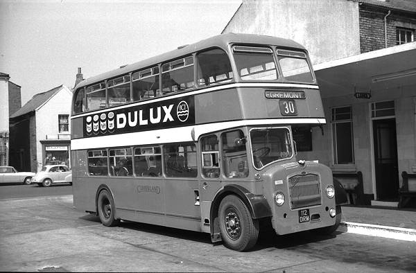 1961 Cumberland 553, 112DRM, was a Bristol FS6G with an E.C.W. H33-27RD body