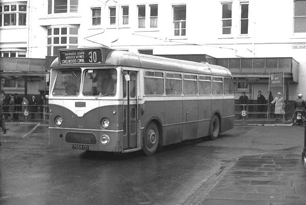 1961 Southdown 659, 7659CD, a Leyland Tiger Cub PSUC1-1 with Marshall B43F body