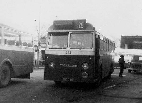 1961 Yorkshire Woollen 231, GHD750, AEC Reliance with Marshall 43 seat bodywork
