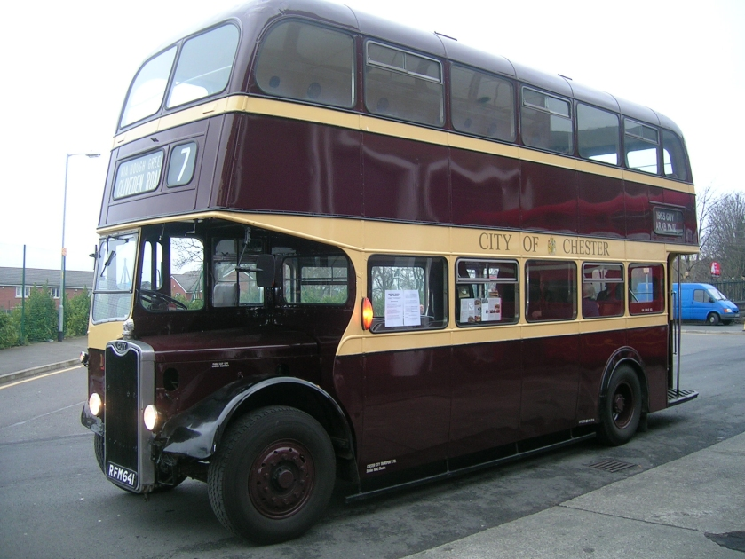 1962 Guy Massey Brothers Chester Corporation bus RFM 641