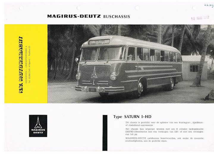 1962 MAGIRUS-DEUTZ Saturn 1-HD (W6-621C-264)