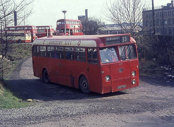 1962 Yorkshire Woollen District 228, GHD747, an AEC Reliance 2MU3RV with Marshall B43F body