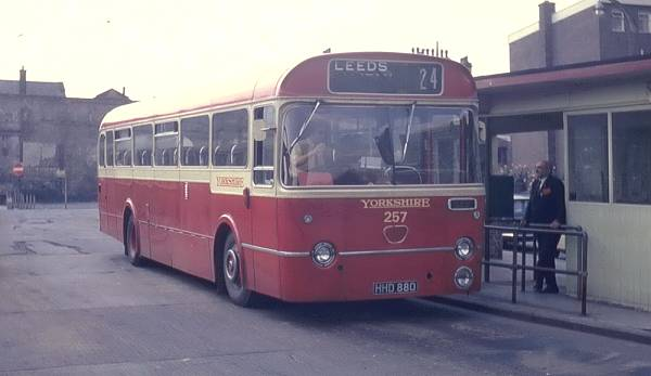 1963 Leyland Leopard PSU3-1R with Marshall B53F bodywork.