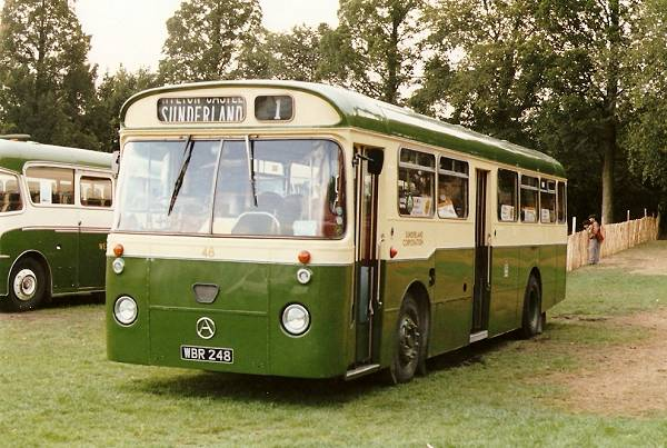 1963 Sunderland Corporation 48, WBR248, one of three Atkinson Alphas with Marshall body