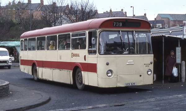 1964 Leyland Leopard PSU3-1R built with Marshall B53F bodywork