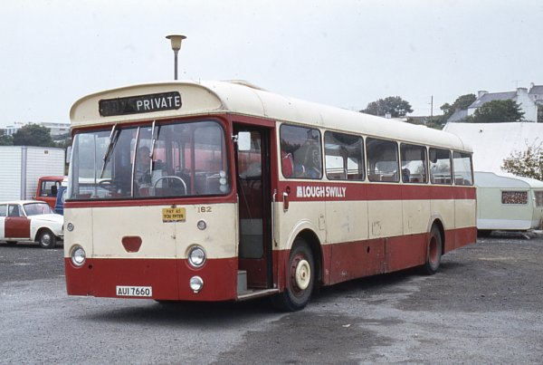 1964 Lough Swilly 162, AUI7660, a Leyland Leopard PSU3-1R with Marshall B53F bodywork