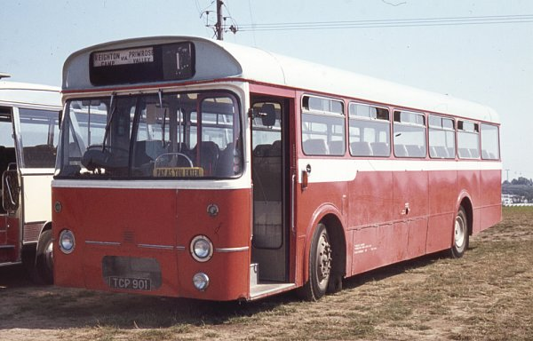 1964 Primrose Valley TCP901, an AEC Reliance 590 2U3RA with Marshall B51F bodywork.