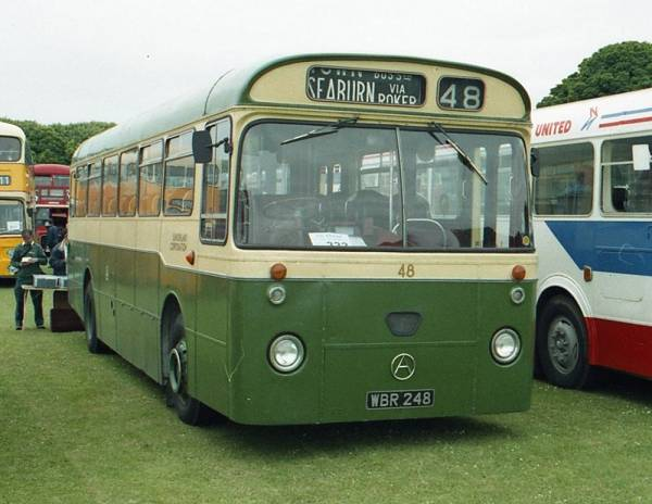 1964 Sunderland Corporation 48, WBR248, an Atkinson Alpha PM746HL with Marshall B45D bodywork