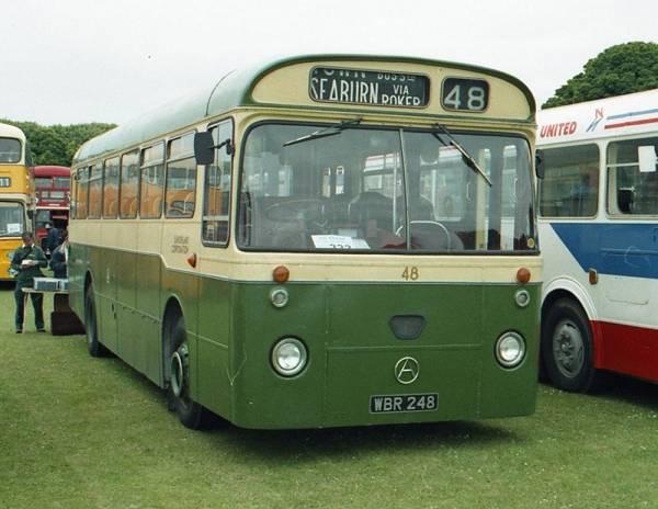 1964 Sunderland Corporation 48, WBR248, an Atkinson Alpha PM746HL with Marshall B45D bodywork