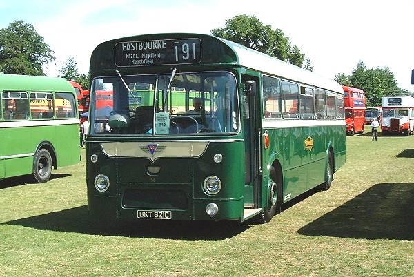 1965 Former Maidstone and District S6, BKT821C, an AEC Reliance with Marshall B53F body