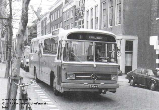 1965 Mercedes Benz O302-Den Oudsten bus GVB19