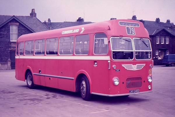 1966 Cumberland Motor Services 245, JAO245D, a Bristol MW6G with ECW B45F bodywork