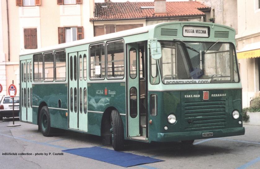 1966 Fiat 409 Menarini 607 ex ACNA MUGGIA e ACT Trieste f