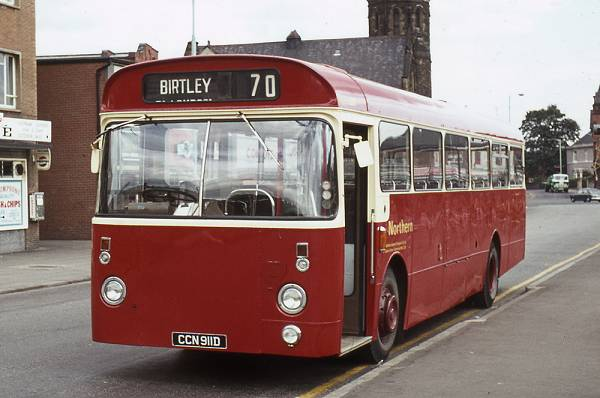 1966 Leyland Leopard PSU3-2 with Marshall B53F bodywork