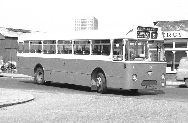 1966 Southend Leyland Leopard 208, GJN508D shortly after delivery