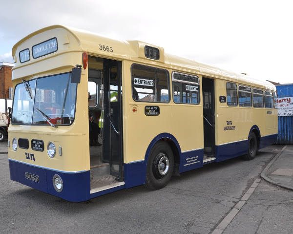 1967 A E C Swift MP2R with Metro-Cammell B37D+30 dual entrance bodywork bd3663a