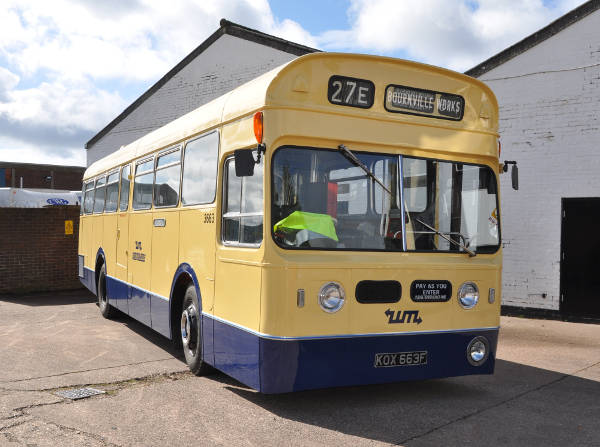 1967 A E C Swift MP2R with Metro-Cammell B37D+30 dual entrance bodywork
