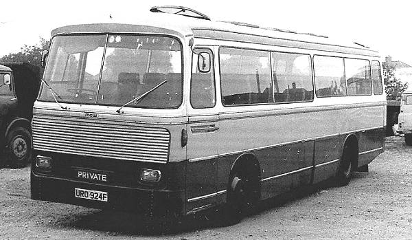 1967 Bedford VAM with MCW bodywork