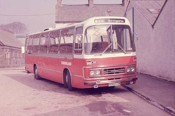 1967 Cumberland Motor Services 809, NRM809M, a Ford R226 with Duple C53F bodywork
