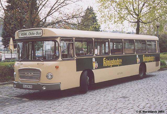1968 MAN 750 HO Metrobus Koblenzer Elektrizitätswerk und Verkehrs-AG KEVAG HO