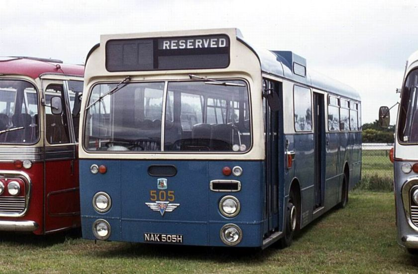 1969 AEC Swift MP2R with Marshall B45D bodywork