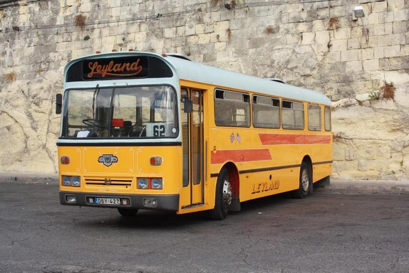 1969 DBY427 - Leyland Leopard-Marshall B46F. Ex Maidsotne & District 3457 (GKE457L). Valetta