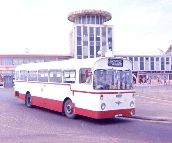 1969 Portsmouth 186, NTP186H, an AEC Swift with Marshall B42D bodywork